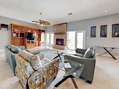 Photo for Open-Concept 4BR w/ Tiki Bar & Big Porch – 500 Feet to Crystal Beach!
