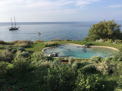 Photo for Villa Serao La Parata - Private Sea Access, Seawater Pool, Finnish Sauna, Garden