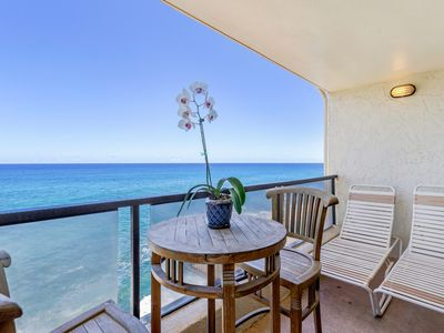Photo for AC OCEANFRONT END-CORNER UNIT NOTHING BUT OCEAN AND TURTLES, Poipu