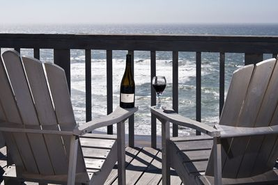 Private Deck seating - Great for Whale Watching