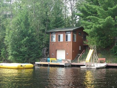 Photo for PRIVATE CABIN ON CHIPPEWA FLOWAGE  (MOORES BAY). TROPICAL ATMOSPHERE, 100FT DOCK