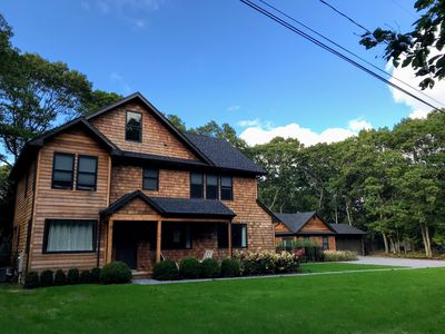 Photo for New Construction Wooded Oasis with Guesthouse in Southampton! 11 min to beach!