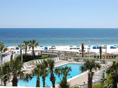 Photo for SSB5415: 3br/2ba Gulf Front Condo w/access to indoor/ outdoor pool & tennis