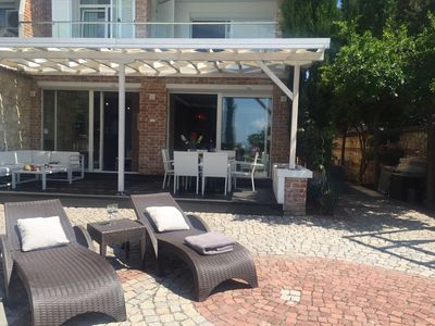 Photo for Stylish Villa with garden on the seafront unique in the heart of Old Town