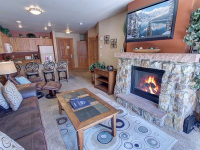 Photo for Expedition Station 8589 Walk to Slopes, FREE WIFI, Pool and Hot Tub, Fire Place, Ski Slope View  by SummitCove Lodging