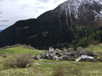 Photo for Rustic small Swiss Chalet Mountain village