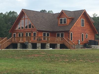 Photo for Tryon Log Cabin-- 4 bedroom 4 bath 3200 sq ft- Brand New 3miles to TIEC