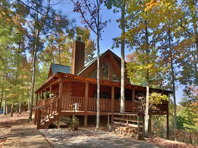 Photo for Beautiful Smoky Mountain Vacation Home!! Secluded with Great Mountain Views, Hot Tub, Pool Table!