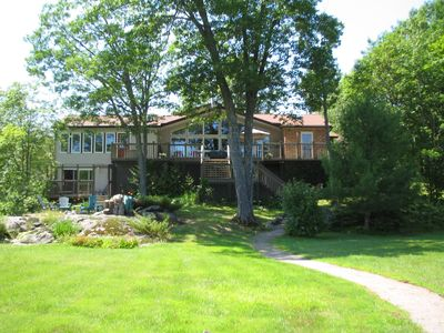 Photo for Modern Muskoka Escape Unique Beachfront Cottage and no flood problems