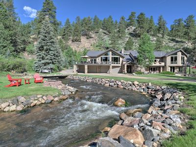 Photo for Stunning Evergreen Mountain Home on Private Stream