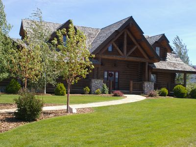 Photo for Stunning Custom Log Home with Breathtaking Views of Teton Mountains, Driggs, ID