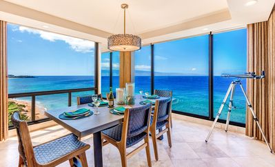 Photo for Mahana 1119, Amazing Views of Kaanapali Beach, 2 BD/2 BA  Oceanfront End Unit