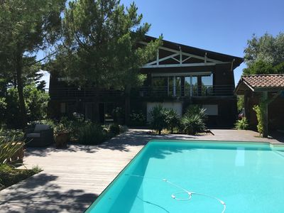 Photo for HOLIDAY HOUSE WITH SWIMMING POOL IN CAP FERRET