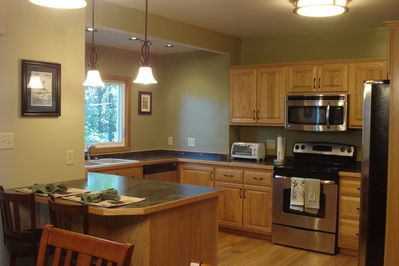Large open kitchen with New Appliances