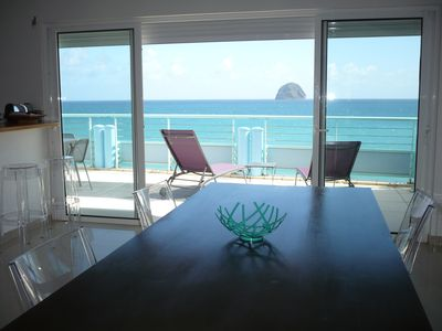 Photo for Luxury apartment, stunning panorama and direct access to the sea.