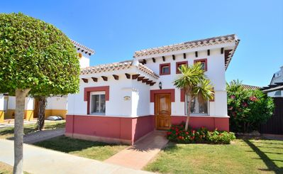 Photo for 2 BED STH FACING VILLA  WITH HEATED POOL -  10% OFF FOR STAYS IN 2019