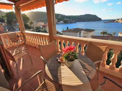 Photo for Gorgeus Sea View!  Wonderful Beach Apartment In Port De Soller. Private Terrace.