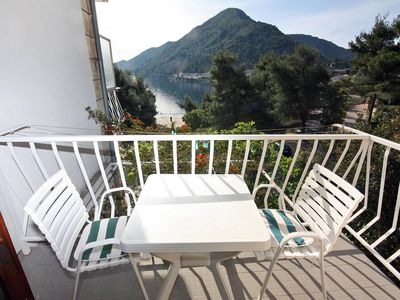 Photo for Studio flat with balcony and sea view Sobra, Mljet (AS-4908-a)