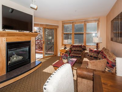 Photo for River Run Condo, King Bed, Overlooks Hot Tubs, Mountain Views, Free WIFI