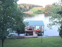 Warm, inviting with a really great lake view