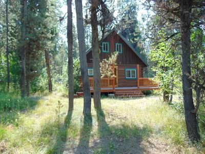 Photo for Buffalo River Retreat is a cute cabin nestled in the trees.