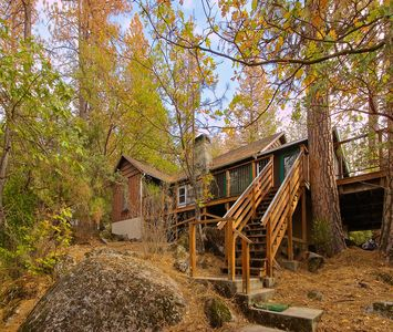 Photo for Stunning Lake View From A Rustic Cabin Updated With Modern Amenties.