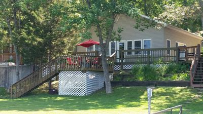 """Photo for """"The Cedar Lake Cabin""""--lakefront house, 2 bedroom"""