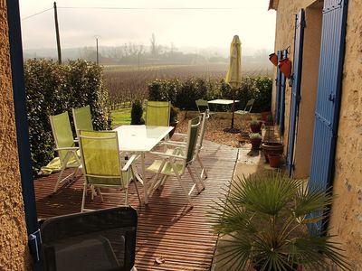 Photo for Delightful 200-year old cottage and studio set amongst vineyards ( Pets Allowed)