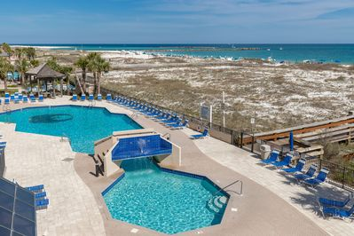 Beautiful Views from Balcony overlooking pool and towards Perdido Pass