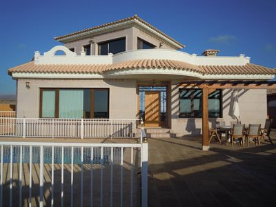 Photo for Beautiful Villa, Panoramic Sea Views, Private swimming pool, Roof Terrace, BBQ
