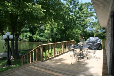 Out on the Deck looking towards the Grill and dining table