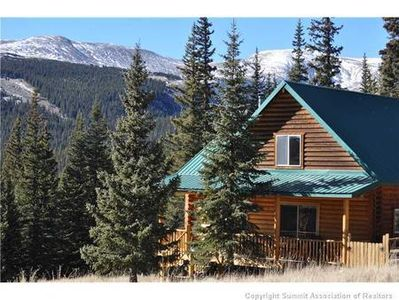 Photo for Secluded Log Cabin with Expansive Mountain Views Minutes to Fly Fishing, & 14ers