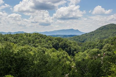 Great Smoky Mountain Views from all the back windows of the cabin