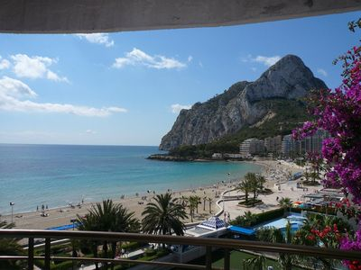 Photo for Paraiso Mar: apartment front line beach in Calpe