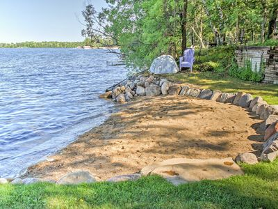 Photo for Waterfront Crosslake House w/ Private Dock & Beach