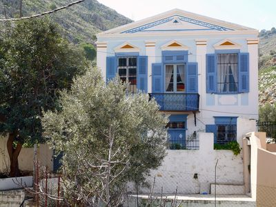 Photo for Beautiful Neoclassical Villa in Symi - Quiet and Overlooking Harbour and Sea