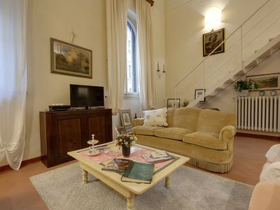 Photo for Elegant Loft in a nineteenth-century building in the historic center of Florence.
