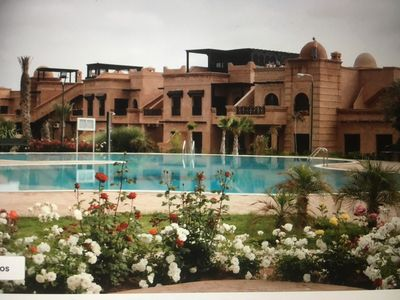 Photo for LUXURY Marrakech apartment with private garden pool access to Atlas Golf Resor