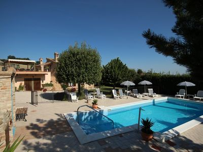 Photo for Farmhouse Portici, 3 apartments with pool, panoramic view and beautiful garden - apt. Venere