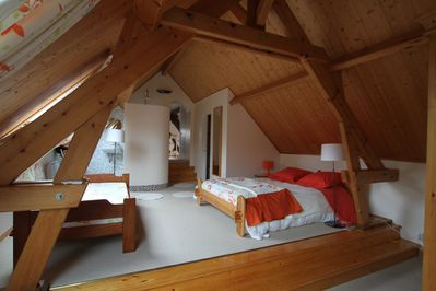 Upstairs bedroom for you to get away