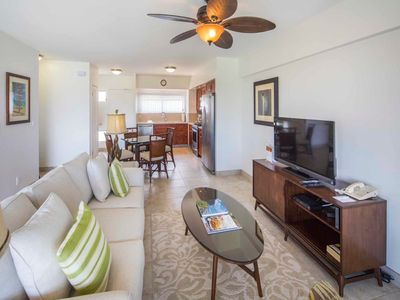 Photo for Airy, Casual Ocean View Suite w/Upgraded Kitchen, Free WiFi–Waikiki Shore #1406