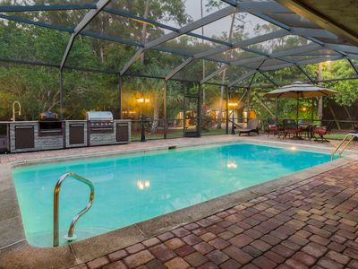 Photo for SUMMER SPECIALS! 2 ACRE VACATION COMPOUND 5BD 4BA HEATED POOL/SPA, MOVIE THEATER