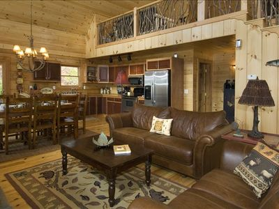 Photo for Great cabin with BIG specials!  Luxury and cozy in one place!  Go explore!