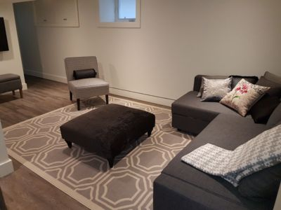 Photo for Newly renovated, bright 1bdrm, sleeps 4 basement suite. Kitchen, Wifi, Netflix