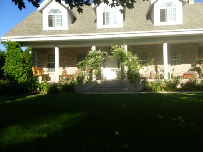 Welcome to the Farm House, enjoy the porch, patio and gardens.