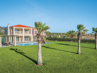 Photo for Stunning sea front villa, private pool, 3 bedrooms, A/C & free Wi-Fi