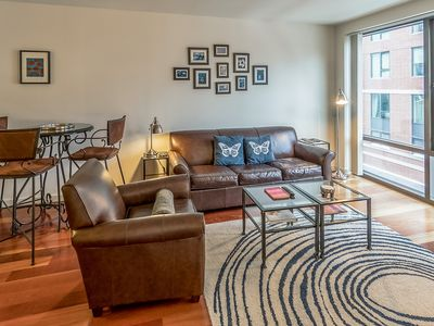Photo for Fun condo w/full kitchen & free WiFi in the heart of Boston near public transit