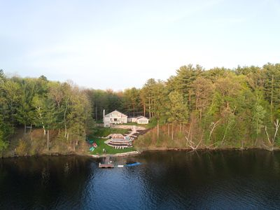 Photo for Sunset Bay: Waterfront Sunsets with private dock on 5 acres!