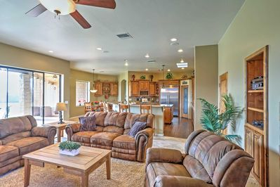The home is ideal for up to 12 guests!