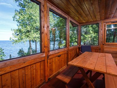 Photo for Go back in time to your Grandparent's cottage! Quaint Door County Cabin with sunset views over th...